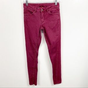 Divided H&M Maroon Skinny Jeans Size 6